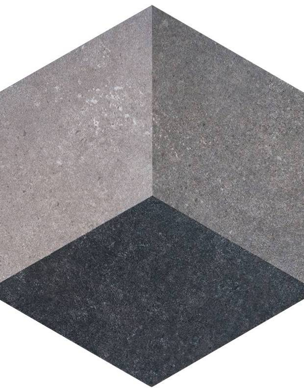 Carrelage hexagonal gr s c rame effet 3d tr2405003 for Carrelage hexagonal marbre
