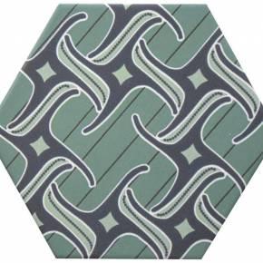 Carrelage hexogonal, la tomette grès cérame good vibes - GO0812004