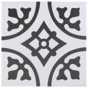 Carrelage imitation carreau ciment blanc 20 x 20 cm - BU0116001