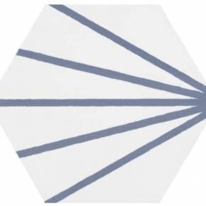 Carrelage hexagonal - design vintage - mat à motif bleu - ME9507006