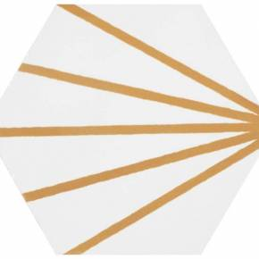 Carrelage hexagonal - design vintage - mat à motif jaune - ME9507011