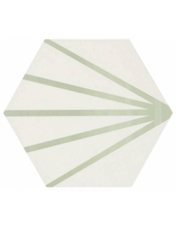 Carrelage hexagonal - design vintage - mat à motif vert - ME9507013