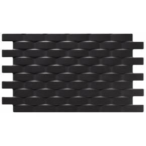 Revêtement mural noir à relief tressé - LU4131001