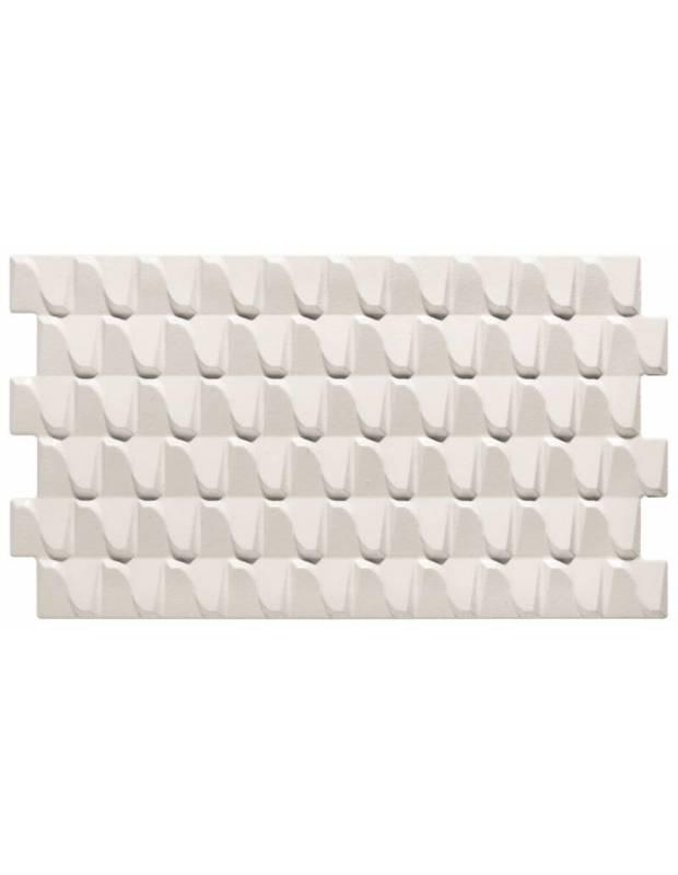 Revêtement mural blanc à relief design - HA4131001
