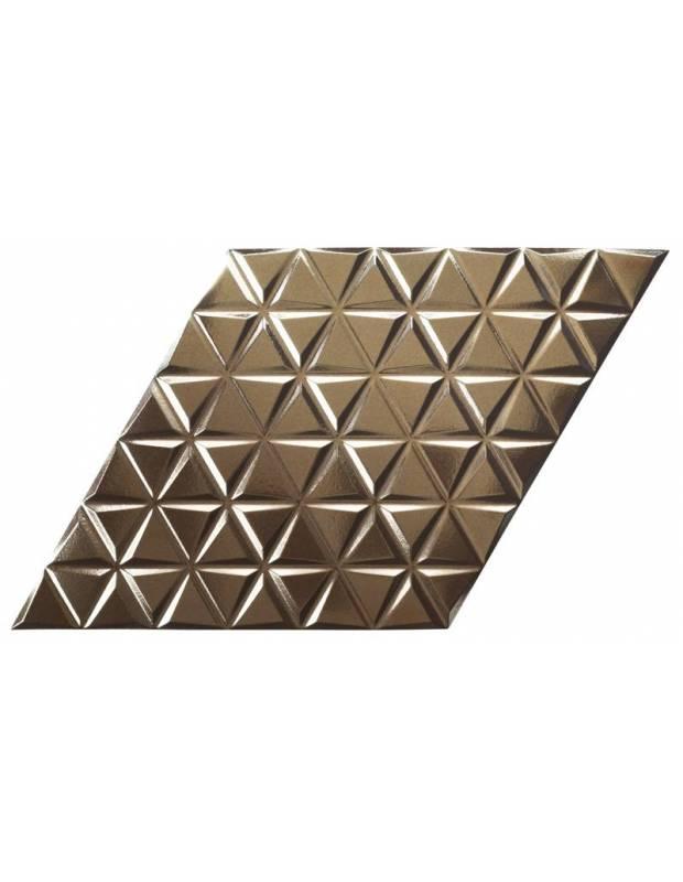 Revêtement mural aspect or à triangles en relief - DI4128001