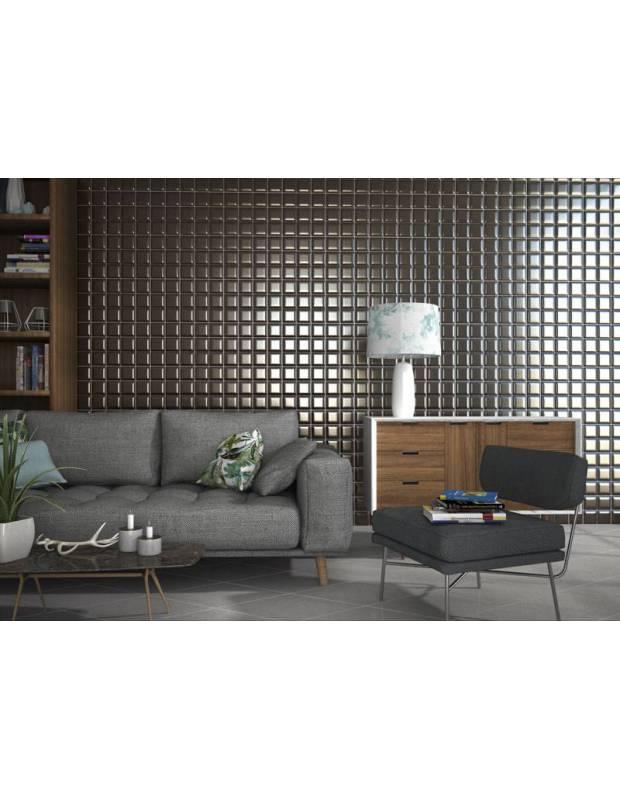 Carrelage mural design brun brillant bombé - BO4127002