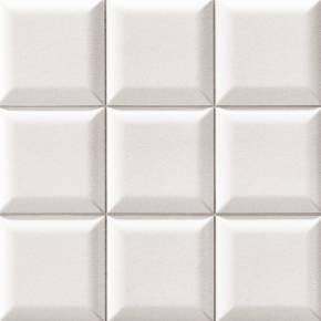 Carrelage mural design blanc mat bombé - BO4127001