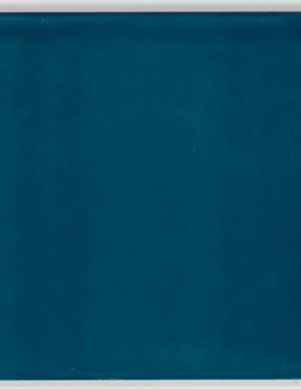 Carrelage 15 x 15 cm martelé bleu canard à effet artisanal - LU7404056