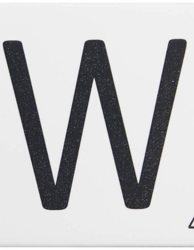 Carrelage scrabble lettre W 10 x 10 cm - LE0804023