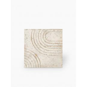 """Carrelage design lettre """"Q"""" 10x10 cm mat blanc 10 x 10 cm - LE0804017"""