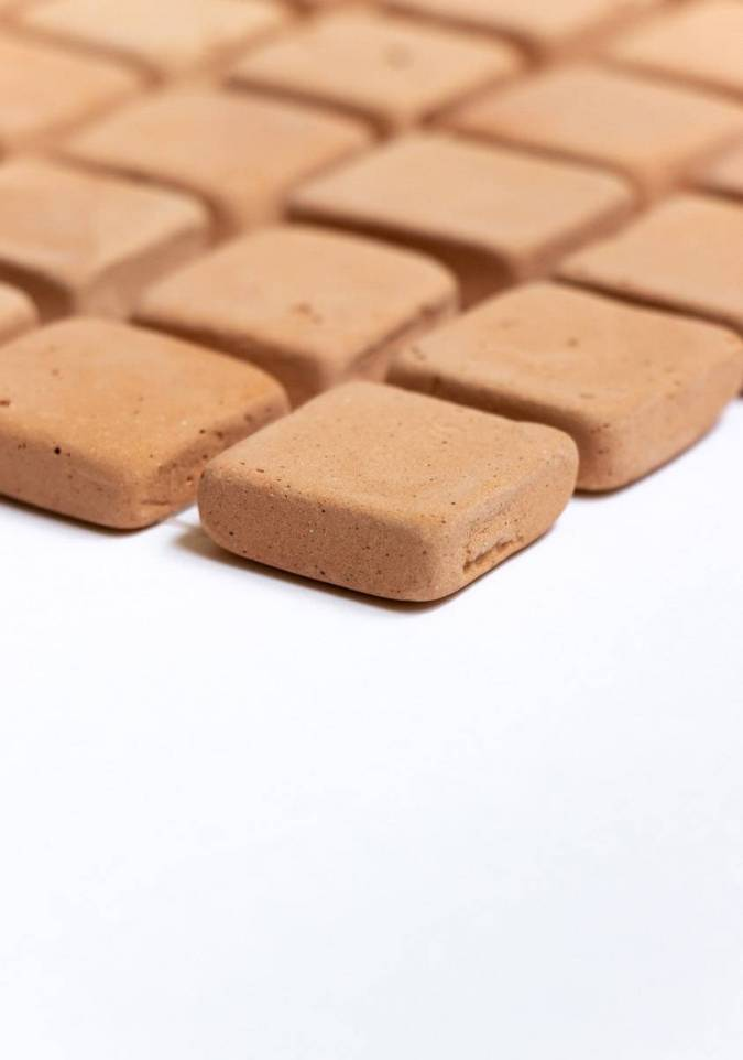 Carrelage d co maic004 comptoir du c rame for Carrelage blanc mat