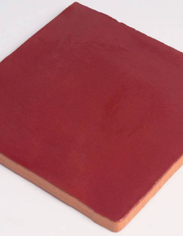 Carrelage mural ancien brillant rouge 10 x 10 cm pr0809030 for Carrelage mural rouge